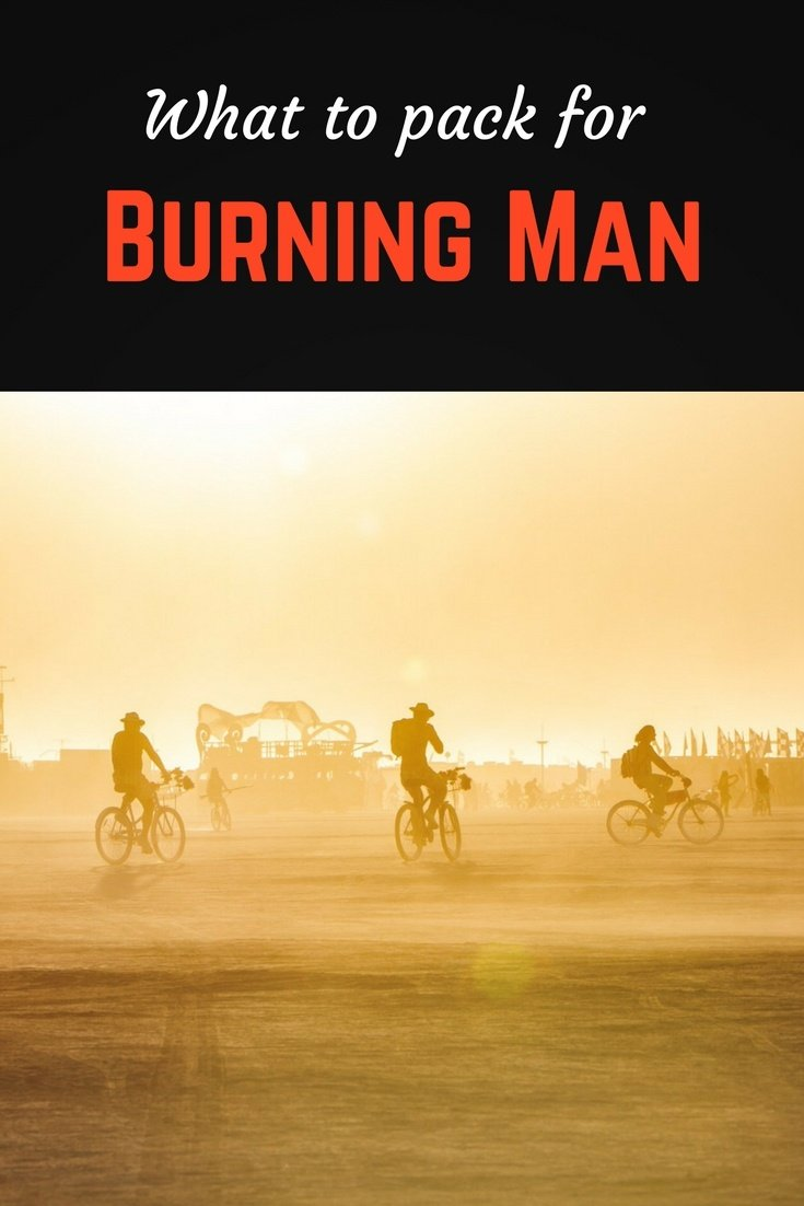 Burning man packing list pinterest pin