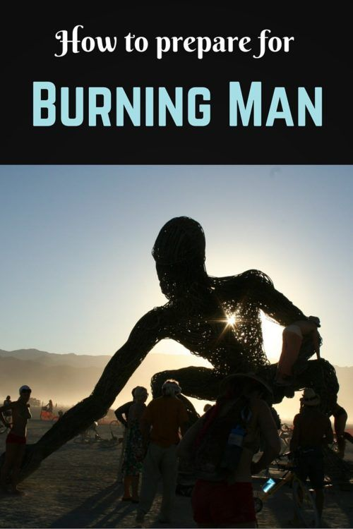 How to prepare for burning man Pinterest pin