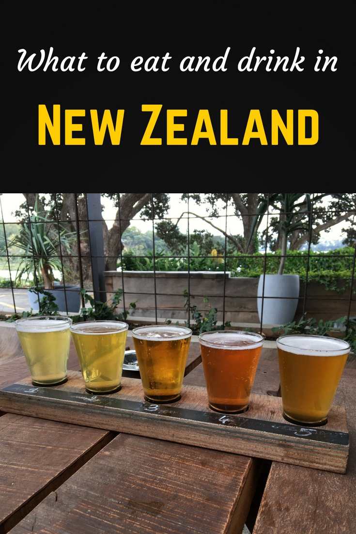 What to eat and drink in New Zealand Pinterest pin