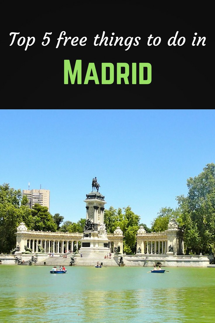 Top 5 Madrid Pinterest pin