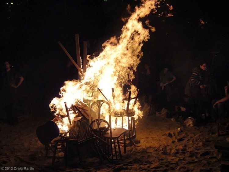 The San Juan celebration sees hundreds of bonfires along the beach of A Coruna.