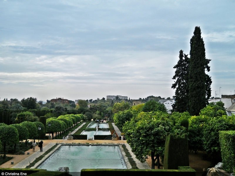 The Alcázar gardens.