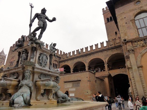 The Plaza of Neptune is a central spot in Bologna.
