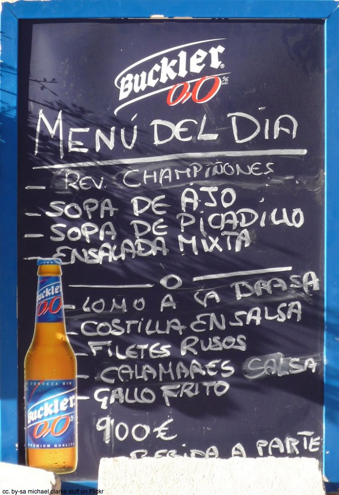 Menu del dia sign