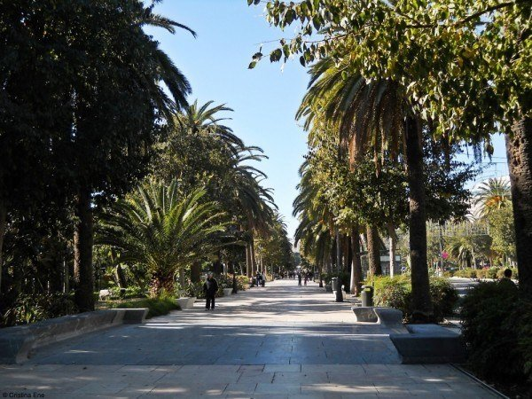 The marble-paved Paseo del Parque.