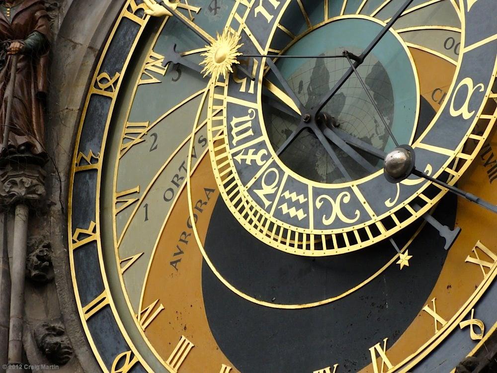 Prague's Astronomical clock in Czech Republic