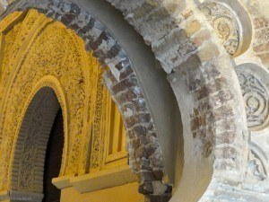 Detail of an arch inside the palace.
