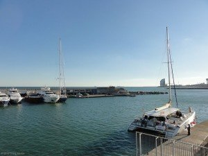 Barcelona harbour: looking good on a sunny day.