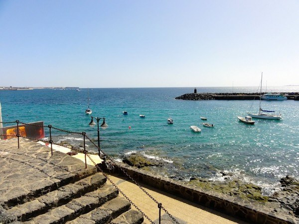 The port at Playa Blanca.