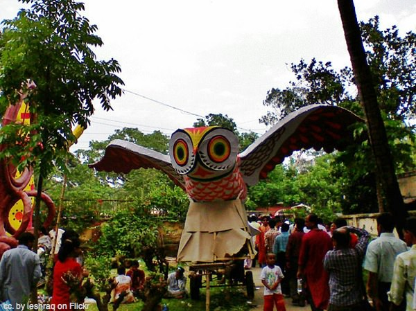 Owls are lucky in the Bengali new year.