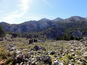 Hiking in the Sierra de Grazalema.