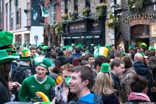 A beer and craic on Paddy's day