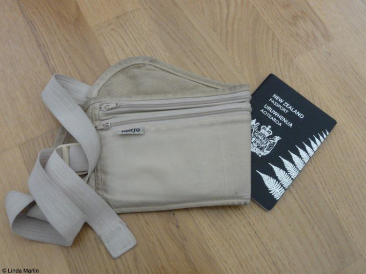 Passport and money belt.