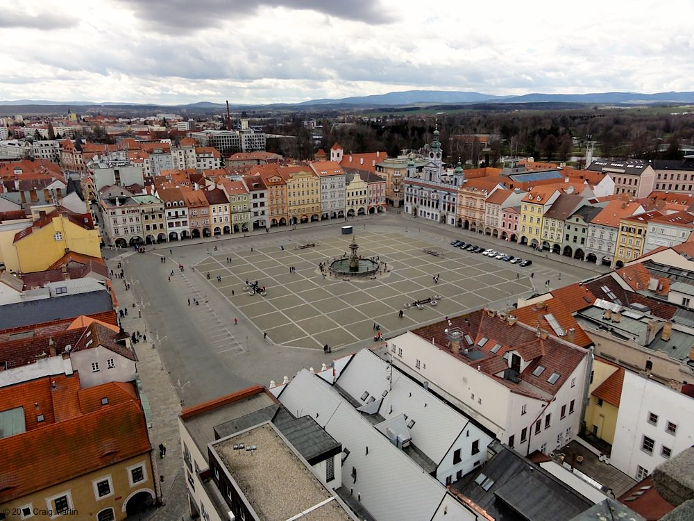 View from the Black Tower, Ceske Budejovice