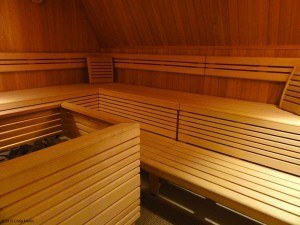 Our wonderful sauna