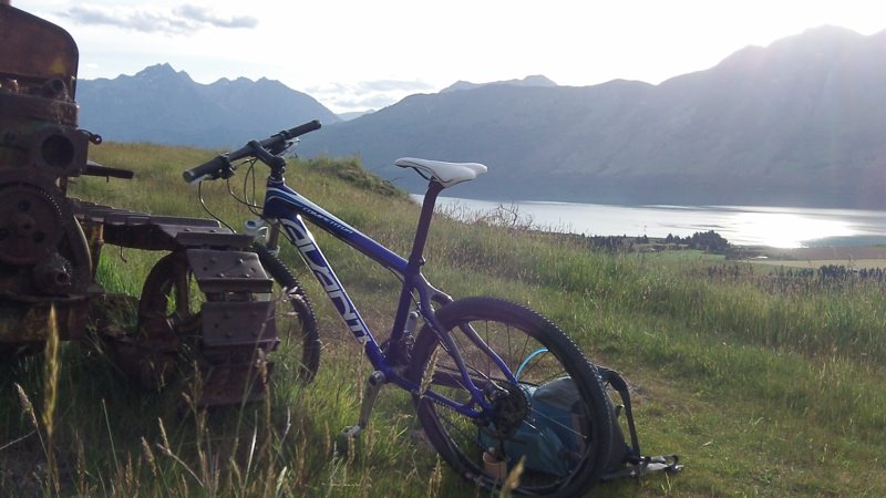 Not a bad spot for a break! Photo by Matt Khynn from NZByBike.com