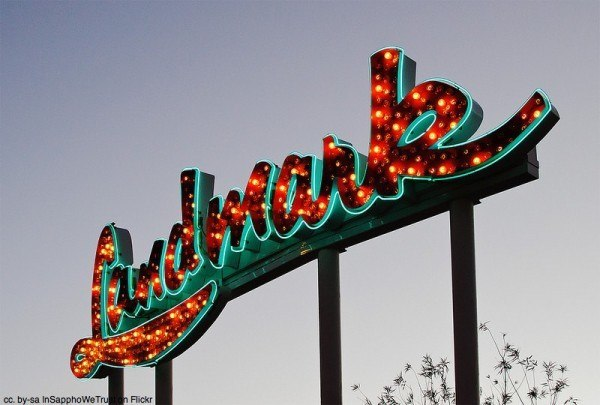One of the Neon Museum's many signs.