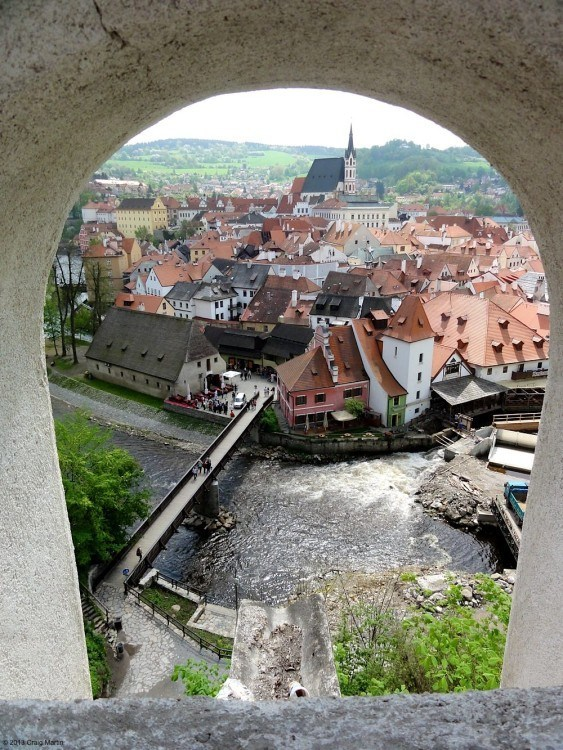 Cesky Krumlov is a beautiful place to visit.