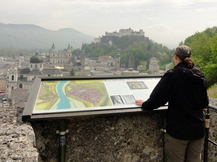 Looking over the city of Salzburg