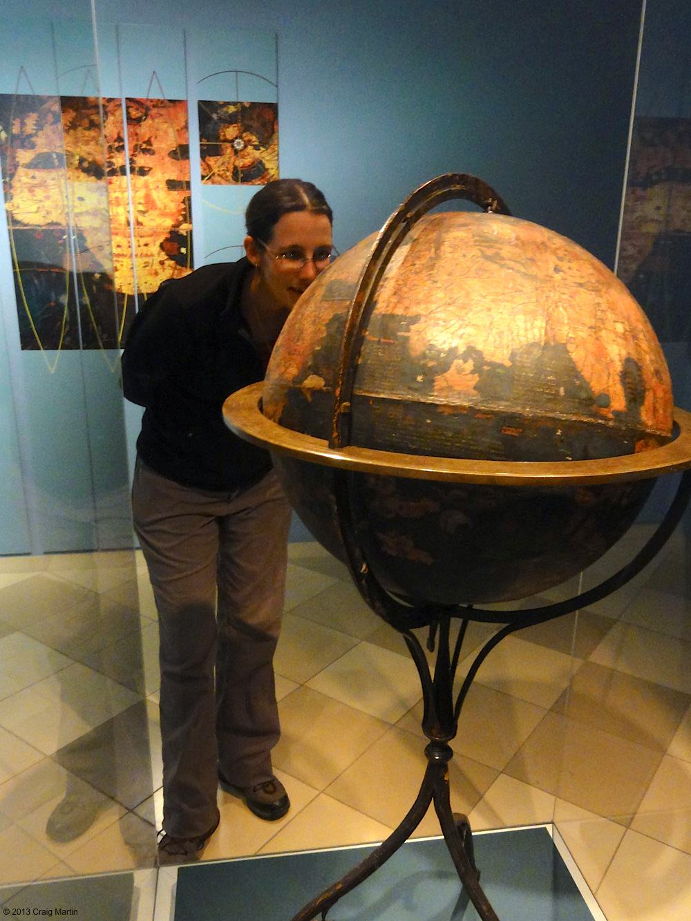 This globe is OLD.