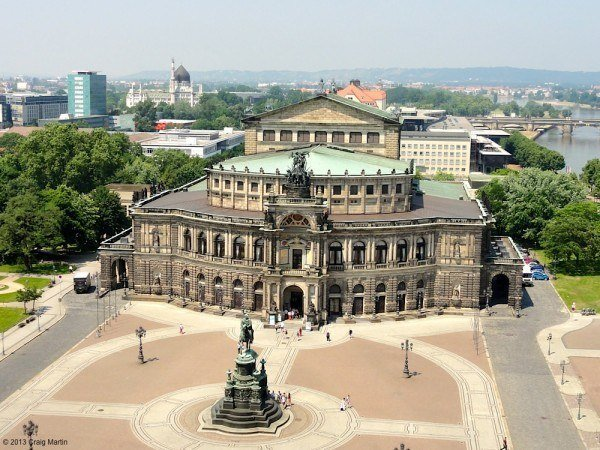 Opera house from the castle tower.