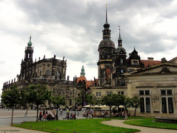 Some of Dresden's Old Town spires.