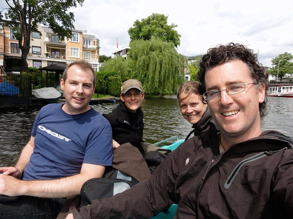 With couchsurfing hosts in Germany.