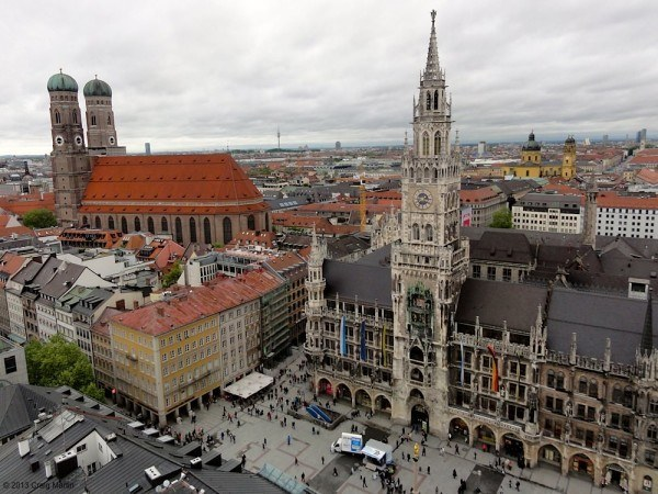 Fantastic views of Munich from St Peter's Church tower.