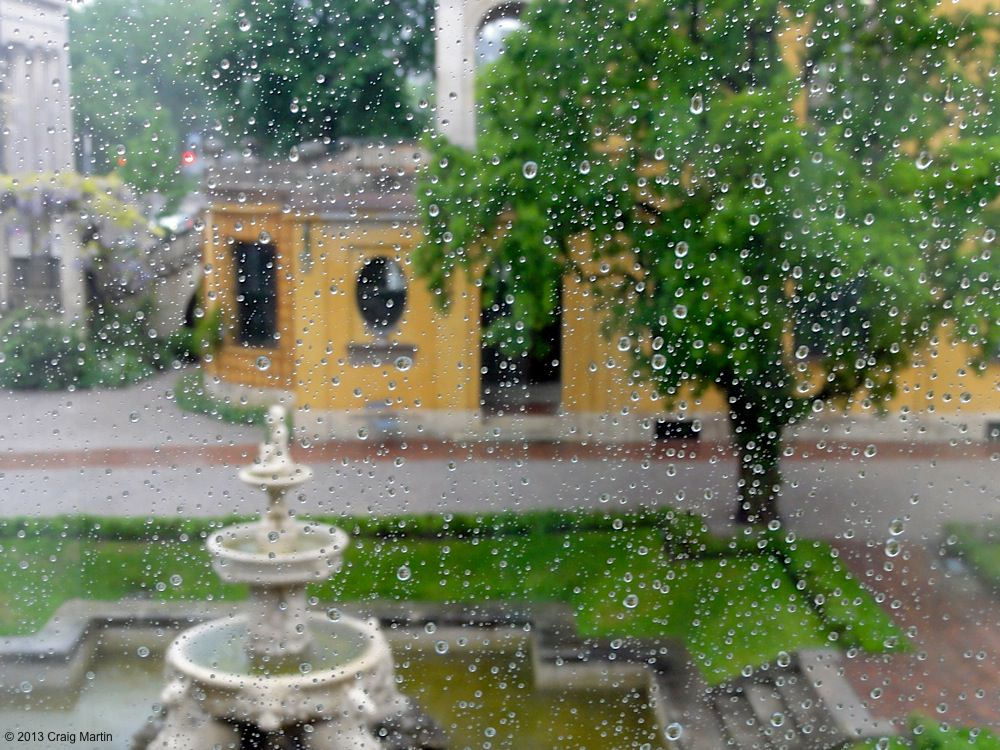 Rain in the Lenbachhaus garden.