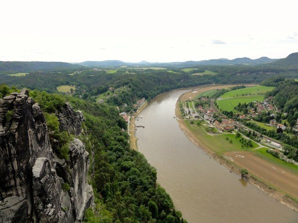 The Elbe River from the clifftop.