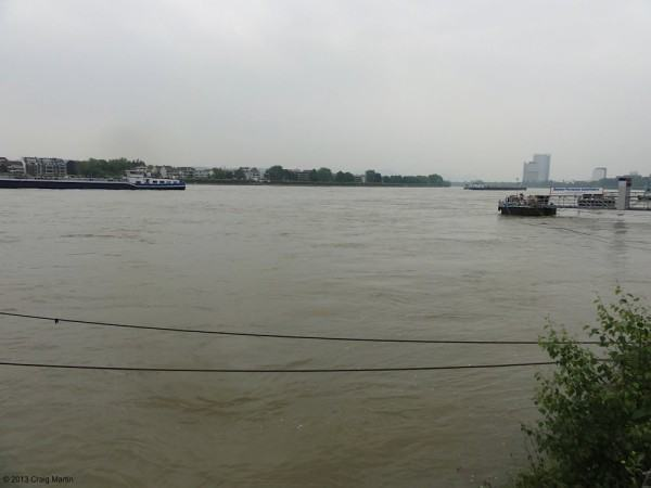 Unfortunately bad weather and flooding kept us off the river and away from the waterfront cafes.