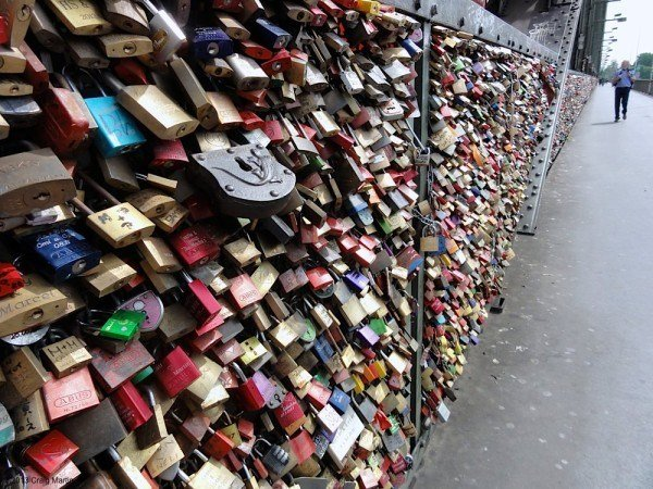 saw plenty of love locks,
