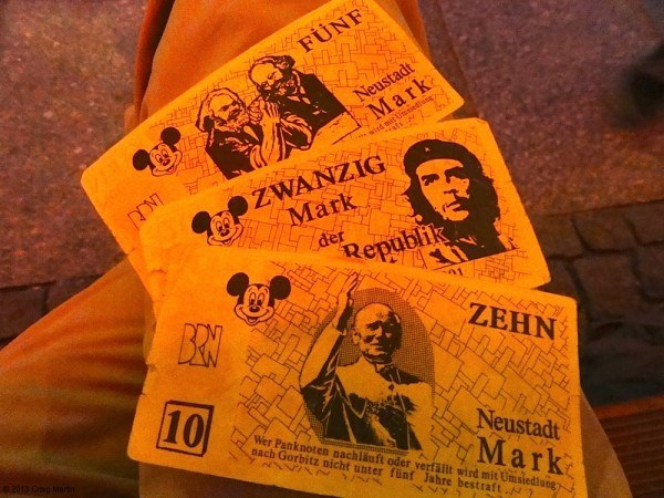 Some vintage currency from the Republic, seen on our Dresden walking tour.