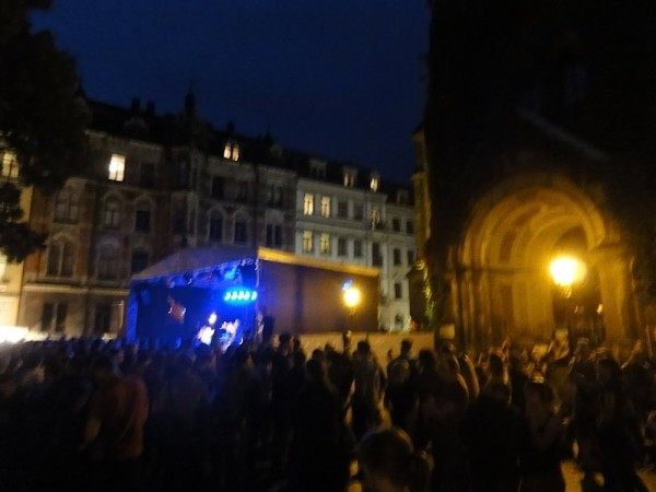 Our couchsurfing hosts took us to a 150,000-person street party celebrating the Colourful Republic.