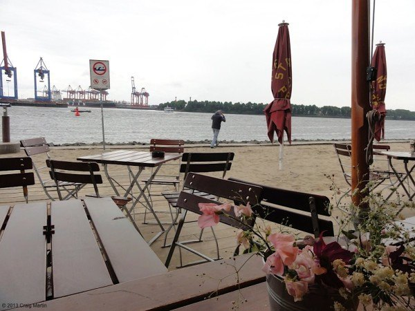 We went down the beach on the Elbe (although the weather was bad)!