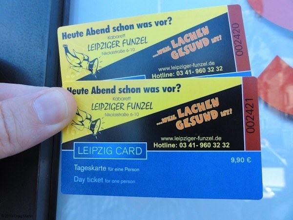 The Leipzig cards helped us get around, but only offered discounts - no free entries.