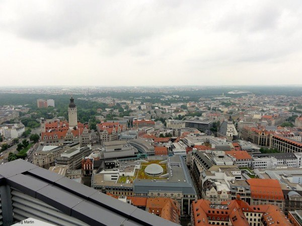 There are panoramic views from the Panorama Tower in the main square.