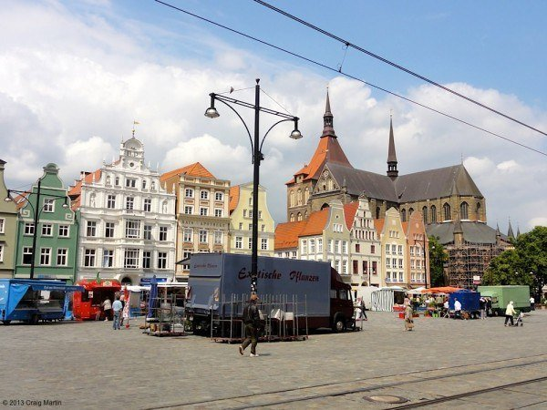 We followed the tram tracks from the station for 20 minutes, and found the main market square.