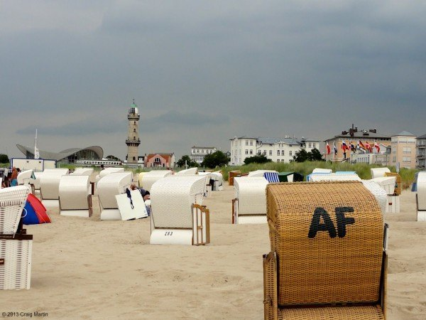 Warnemunde beach chairs.