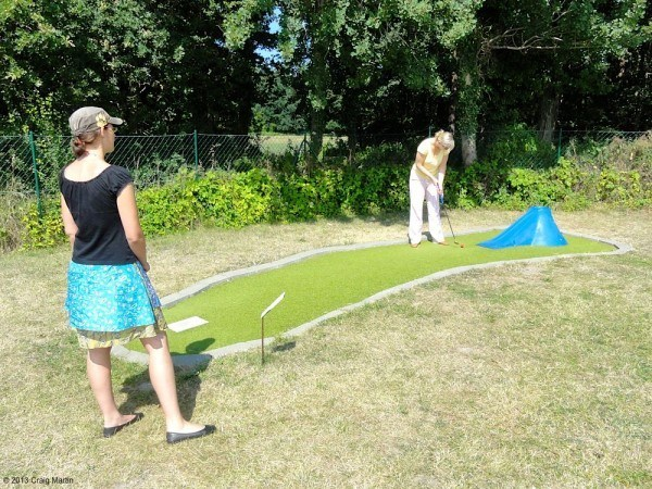 Minigolf in Wustrow.