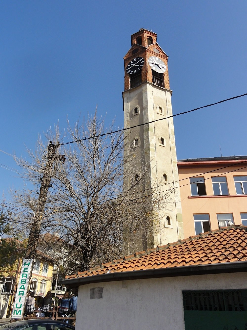 Pristina's iconic clocktower.