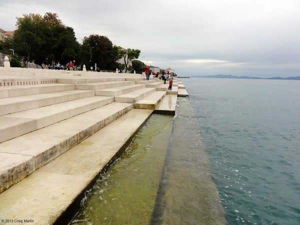 Zadar is famous for its sea organ. You'll have to listen to the podcast to hear how it sounds!