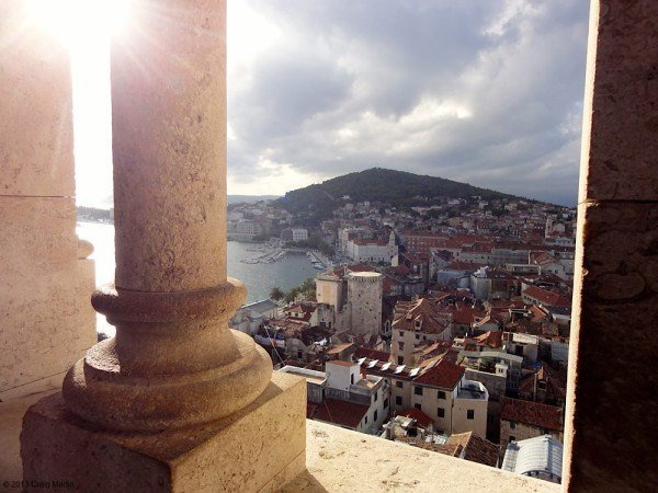 View of Split from the bell tower.