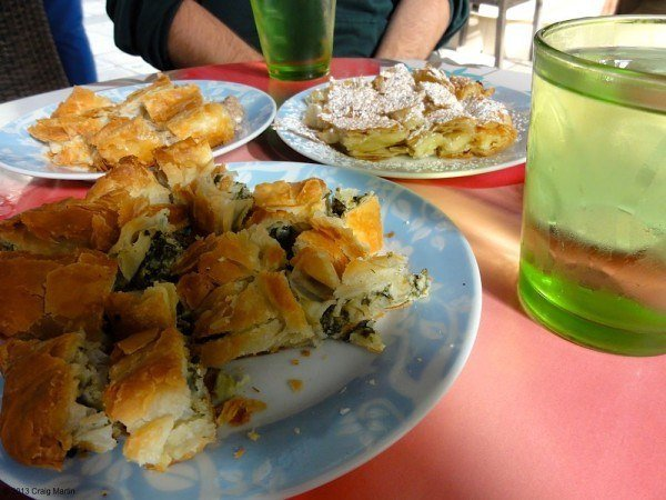 Delicious food on the Tastes of Thessaloniki food tour.