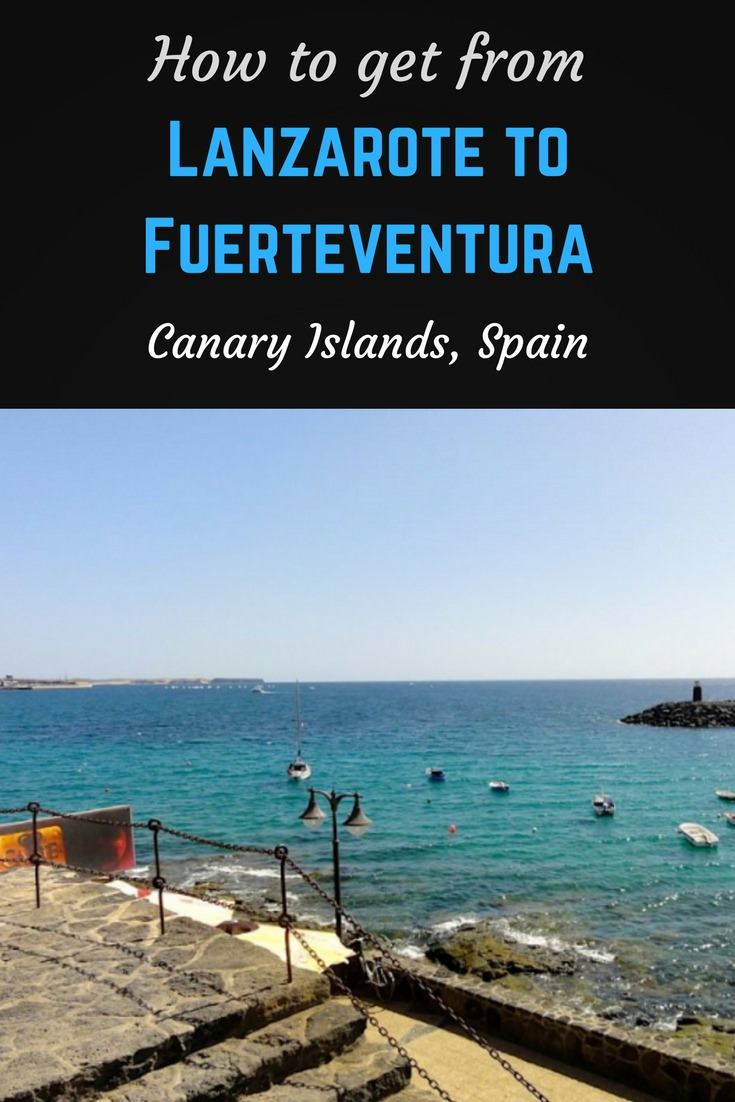 Lazarote to Fuerteventura Pinterest Pin