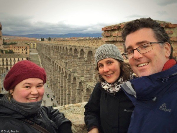 Christina's most recent visit to us, just last winter: we visited Segovia.