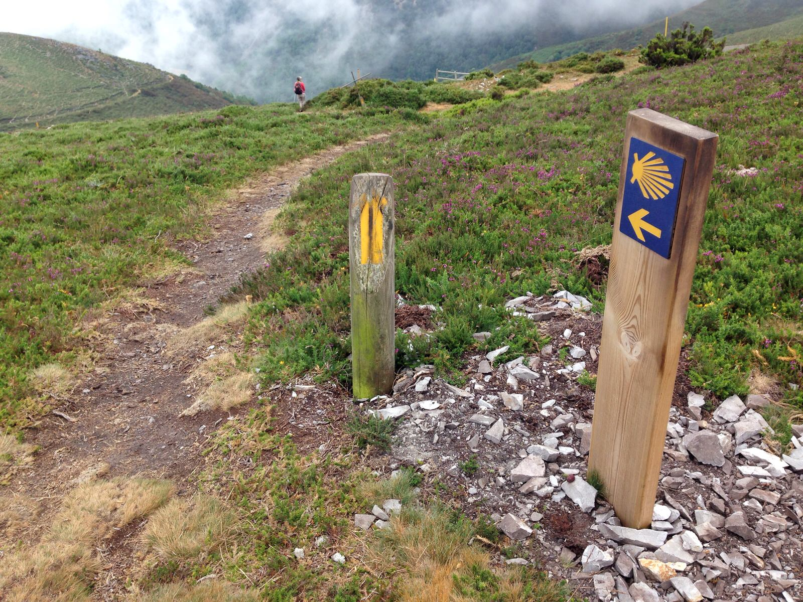 Markers on the Camino Primitivo