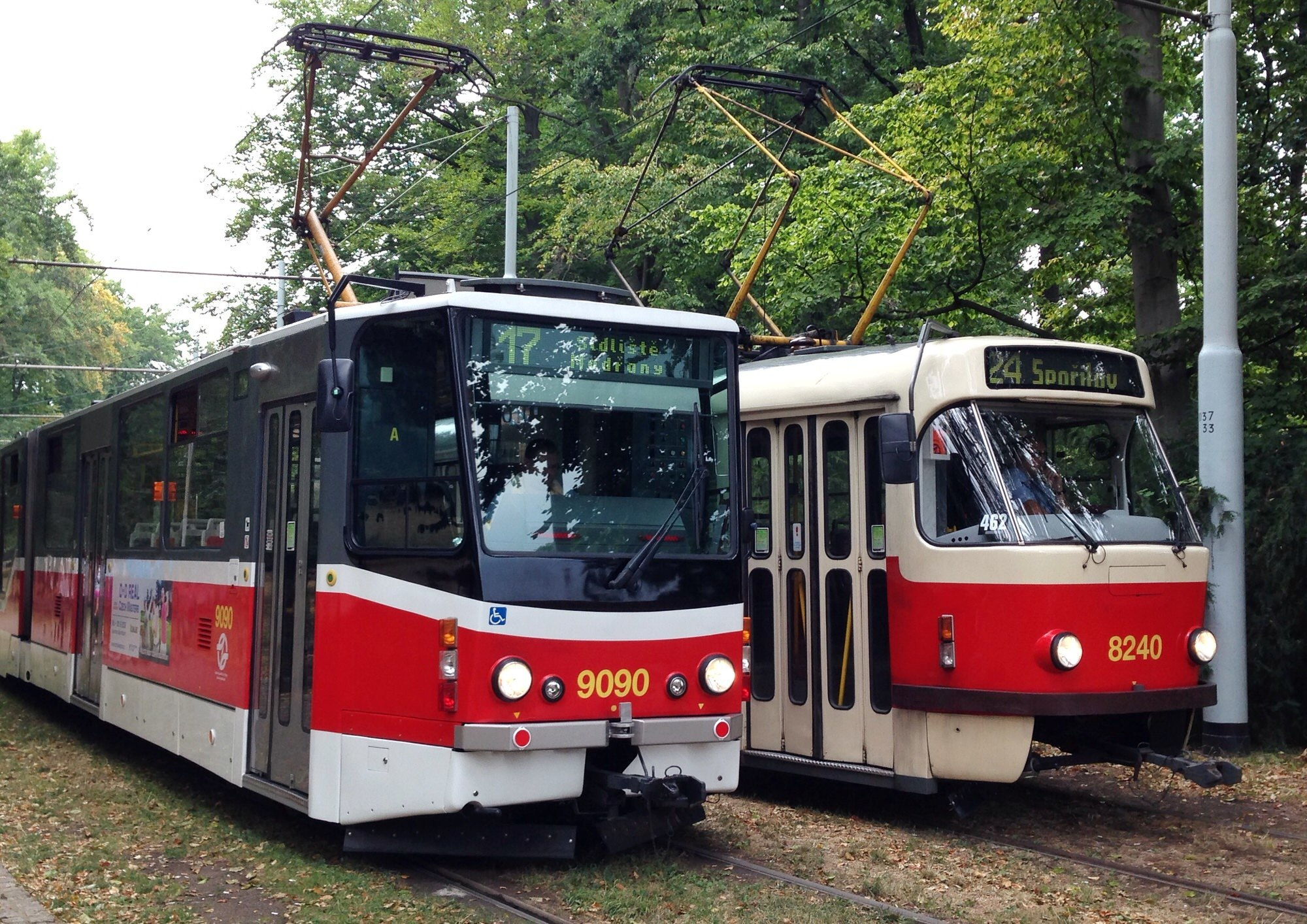 Prague trams: public transport in Prague is easy to use, but remember to validate your ticket.