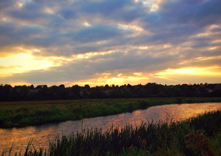 Oundle sunset river Nene UK