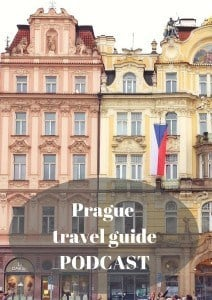 Prague travel guide podcast pinterest pin